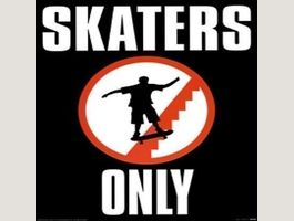 Skaters only Midi Poster