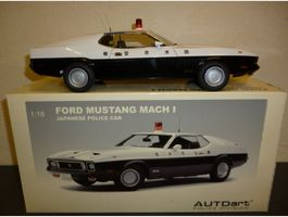 """Ford Mustang Mach1 73 """"Police-Car"""" 1/18"""