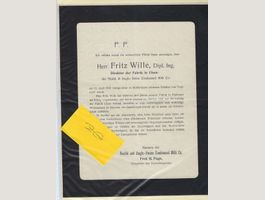 Cham 1912: Fr.Wille/Nestlé/Fred H.Page