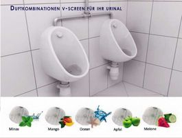 V-Screen Duftkombinationen für Urinal