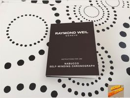 RAYMOND WEIL - OPERATING INSTRUCTIONS !