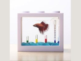 Mini Aquarienblock Design Weiß