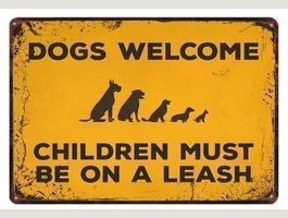 Dogs welcome-children must be an a leash