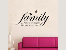 Wandtattoo Family Birds Quote Wandstick…