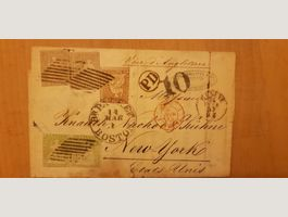 Very Rare lettre Suisse 1857 New york