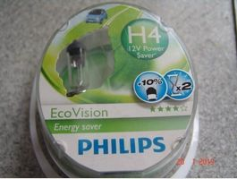 Philips Eco Vision H4 Longlife Duo Pack