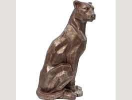 Deko Figur Sitting Cat Rivet Copper