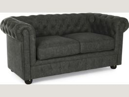 Canapé Chesterfield anthracite vintage