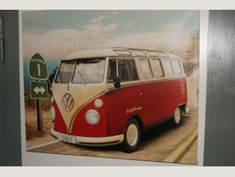 VW Bus Bulli California Bild 50x60cm