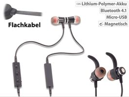 Magnetisches In Ear Stereo Headset BT