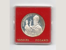 Polen Joh.Paul II 1000 Zlotych1982 Probe