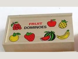 Fruit Domino Memory en bois