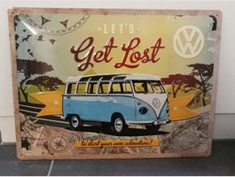 Metallbild VW Bus