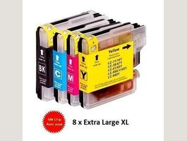 4x cartouches d'encre LC-980 LC-1100 XL