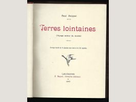 Terres lointaines, Paul Seippel, 1897