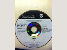 HP  Windows 7 Pro + license