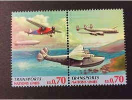 Briefmarke Transports Nations Unies.