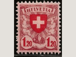 1924 Wappenmuster Abart HFLVETIA ab 1.-