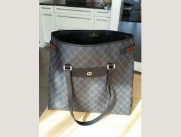 Gucci canvas and leather tote