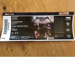 Metallica Ticket Stehplatz in Zürich