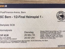 Ticket SCB - EHC Biel 26.03.2019