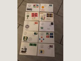 10 envelopes with swiss stamps