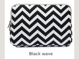 Laptop Tasche Design Black Wave