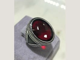 VRAI 55 ct bague homme RUBY 99/199.-