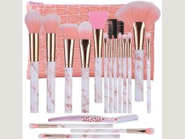 Make Up Pinsel 16 Schminkpinsel Set Rosa