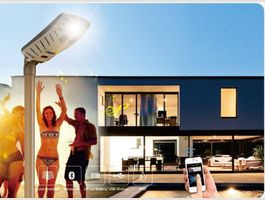 Lampadaire solaire LED speaker Bluetooth
