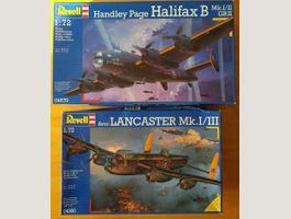 2X REVELL R.A.F. HEAVY BOMBER WWII 1/72