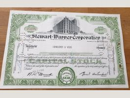 Stewart-Warner Corporation - 1 share