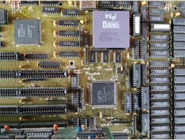 486 Main Board Intel i486 + Grafikarte