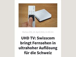Swisscom TV UHD Box