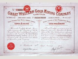 1896: Great Western Gold Mining Company