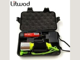2000LM LED Diving Torch+Box+Charger+batt