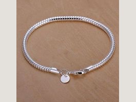 COULEUR BLANC D'OR 3MM silver Bracelet