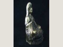 China Kuan Yin, Bronze Skulptur