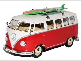 Welly VW Volkswagen T1 Rot mit Surfbret