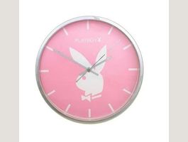 Playboy Classic Wanduhr Pink