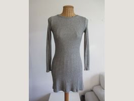 BERSHKA - Vintage robe grise claire S