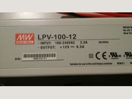 Power Supply MeanWell 12V, 8.5A