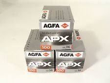 3x AGFA APX 100 135-36 (3x 36 Poses)