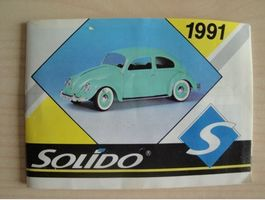 Mini catalogue Solido 1991 , 43 pages