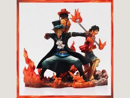ONE PIECE Luffy Ace Sabo Red Fire:Set3Pc