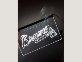 Atlanta Braves Weiss LED Reklame Schild