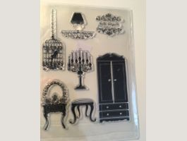 Clear  Stamp  Stempel Shabby Chic