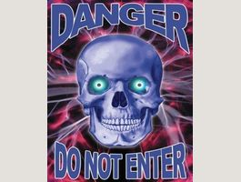 25 Midiposter SKATERS ONLY, DANGER