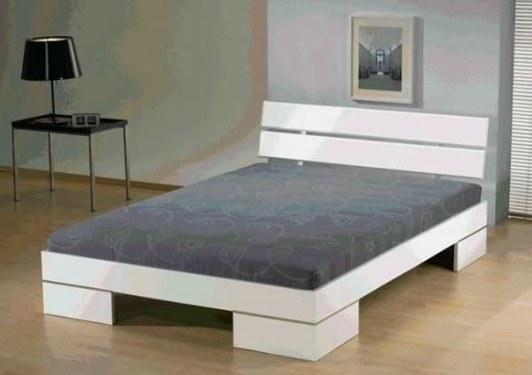 futonbett doppelbett bett 140x200 inkl rollrost. Black Bedroom Furniture Sets. Home Design Ideas