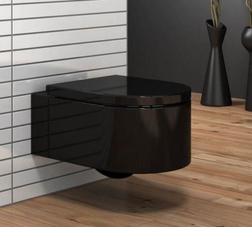neu luxus wand toilette h nge wc schwarz in tr llikon kaufen bei. Black Bedroom Furniture Sets. Home Design Ideas